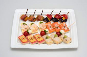 ・スモークサーモン ・海老と玉子 ・ソフトサラミチーズ ・ツナキウイ ・南瓜ベーコン ・茄子パプリカ南蛮 ・カプレーゼ
